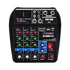 4 Channels Audio Mixer with Sound Mixing Console Bluetooth Record