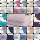 """Kohsar Easy Iron Plain Dyed Extra Deep Fitted Sheet 40CM / 16"""" 4 Size 18 Colours image"""