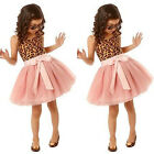 Princess Kids Baby Girl Leopard Tutu Dress Party Pageant Birthday Dress Sundress