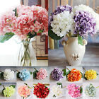 13 Colors 6 Heads Artificial Fake Silk Flowers Wedding Bridal Hydrangea Supplies