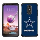 For LG Stylo 4 2018 - Official NFL ShockProof TPU Armor Pebble Feel Cover Case