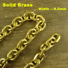 Solid Brass Snake / O shaped / Falt Curb Chain Bag Wallet Fob Chain Key Chain