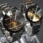 Men Women Stailess Steel Band Quartz Wrist Watch For Couple Valentine's Day image