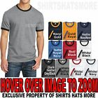 Mens Ringer T-Shirt Preshrunk Cotton Tee  S, M, L, XL, 2XL, 3XL, 4XL NEW image