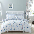 Charlotte Thomas Salcombe Printed Polycotton Reversible Duvet Cover Set, Blue
