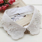 Women Lace Fake False Collar Detachable Lapel Shirt Blouse Choker Necklace Dress