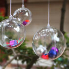 Ball Christmas Baubles Clear Fillable Xmas Tree Decoration Ornaments 4 Sizes Bsc