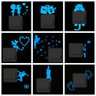 Cartoon Blue-light Switch Sticker Small Glow In The Dark Removable Home Decor