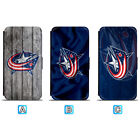 Columbus Blue Jackets Leather Case For iPhone X Xs Max Xr 7 8 Plus Galaxy S9 S8 $4.99 USD on eBay