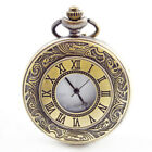 New Pocket Watch w/Chain Necklace Vintage Bronze Case for Men Women Kid Boy Girl image