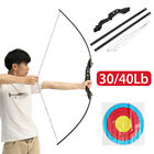 30/40 lbs Archery Hunting Bow Recurve Shooting Sporting Takedown Right Handed USCompound - 20838