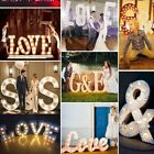 A-Z Light Up Letter LED Alphabet Wood Party Wedding Standing Christmas Decor