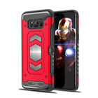 For Samsung Galaxy Models Luxury Armor Shockproof Magnetic Card Slot Case Cover <br/> 6 Color&#039;s # For Galaxy  S7/S7Edge /S8/S8 Plus/A5 2017