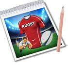Rugby Notepads Party Bag Fillers Boys Girls Salford Reds Team Colours