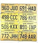 New Jersey Buff Old License Plate Yellow Straw Garage Vtg Car Tag Man Cave Auto