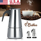 100ml 300ml ESPRESSO COFFEE MAKER STAINLESS STEEL STOVETOP PERCOLATOR MOKA POT