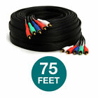 Component Video Cable 5 RCA Cord Video Coaxial Gold RGB HDTV DVD VCR YPbPr LOT