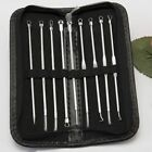 9PCS Blackhead Acne Pimple Remover Stainless Steel Needle Facial Beauty Tool Kit