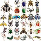 Fashion Women Crystal Animals Butterfly Bee Beetle Insects Brooch Pin Jewelry image
