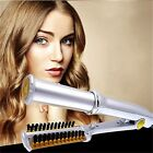 3-in-1 Hair Curler Straightener 2-Way Rotating Curling Iron Electric Comb Brush