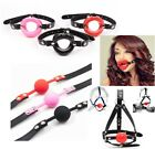 Silicone-Mouth-Gag-Lips-w/Strap-O-Ring-Open-Lip-Ball-Costume