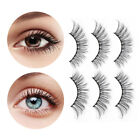 BONNIE CHOICE 3 Pairs False Eyelashes Fiber Eyelash Reusable Beauty Cosmetic