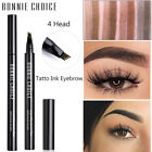 BONNIE CHOICE Four-jaw Eyebrow Pencil Waterproof Eyebrow Shapes Eyes Cosmetic
