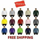 Hanes Men's 100% Cotton Long Sleeve Beefy-T® L/S Tee Shirt S-3XL 5186