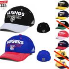 NHL Hockey Adidas Official Fitted Curved Brim Hat Cap Men's S/M, L/XL (Pick 1) $18.99 USD on eBay