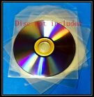 Premium (120 Microns) Clear CPP Plastic CD DVD Sleeves Bag with Flap 5x5