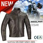 Segura Cesar Motorcycle/Bike Mens Leather Jacket│CE Approved / Waterproof│Brown