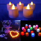 10/50x LED Electronic Candle Flash Tea Light Colorful Home Party Valentine Decor