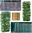 Garden Fencing Privacy Screening Reed Bamboo Willow Trellis Flowers Outdoor Wall