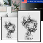 Modern Black&White Girl Canvas Print Painting Wall Art Picture Poster  !