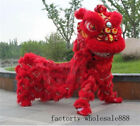 LED Light Wool Chinese Folk Art Lion Dance Mascot Costume Southern for Two Adult