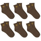 2 3 6 PACK PAIR UPS LOGO UNITED PARCEL SERVICE DRIVER BROWN ANKLE LENGTH SOCKS