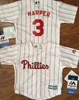 Philadelphia Phillies Bryce Harper MLB Majestic Infant Replica Jersey size 12 mo