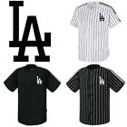 LA Los Angeles Dodgers Striped Button Jersey Baseball Open T-Shirts Uniform 0105 on Ebay