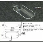 Clear combustion quartz boat crucible, Various sizes Selectable