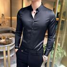 2019 Mens Spring Long Sleeve Shirts One Breasted Slim Fit Formal Shirts Fashion