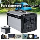 296Wh 600W Solar Power Generator Supply Source Energy Storage Battery Charger
