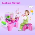 Kids Toy Pretend Play Kitchen Cooking Set Food Playset with Lights & Sounds Gift
