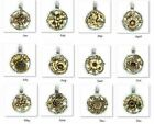 Beaucoup Designs Birth Month And Flower 2 Tone Pendants / Charms 1in Choose