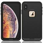 For Apple iPhone XR XS Max Waterproof If it should happen Cover w/ Built-in Screen Protector X
