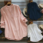 Fashion Womens Summer V Neck Blouses Loose Baggy Tops Tunic T Shirts Plus Size