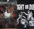 AMC The Walking Dead Fight or Die Zombie Horror TV Show T Shirt Mens S-2XL New image