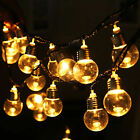 9m 50 Led Solar String Ball Lights Outdoor Waterproof Warm White Garden Decor