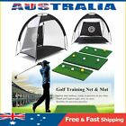 Golf Hitting Cage Practice Net Trainer+ Training Mat +3 Balls +Tee Foldable AU