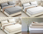 400TC FITTED SHEET EGYPTIAN COTTON 30 CM DEEP MATTRESS FIT COVER SINGLE DOUBLE  image