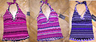 NWT 98 Profile by Gottex Ruffled V-Neck Halter Swimsuit Tankini Top Women's
